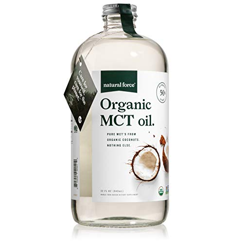 Organic MCT Oil in 32 Oz Glass Bottle