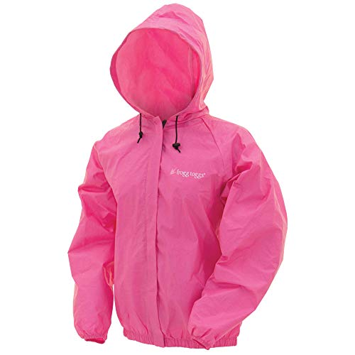 FROGG TOGGS Women's Ultra-Lite 2 Waterproof Rain Jacket, Pink, Small