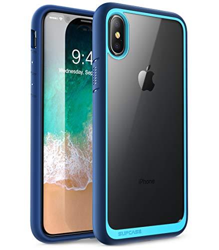 SUPCASE iPhone XS Max Hülle Premium Case Hybrid Handyhülle Transparent Schutzhülle Backcover [Unicorn Beetle Style] für Apple iPhone XS Max 6.5 Zoll 2018 (Blau)