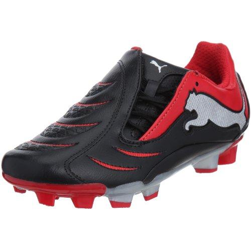 Puma 101927 06, Scarpe da Calcio Bambini, Nero (Schwarz (Black-High Risk Red-Puma Silver)), 37 EU