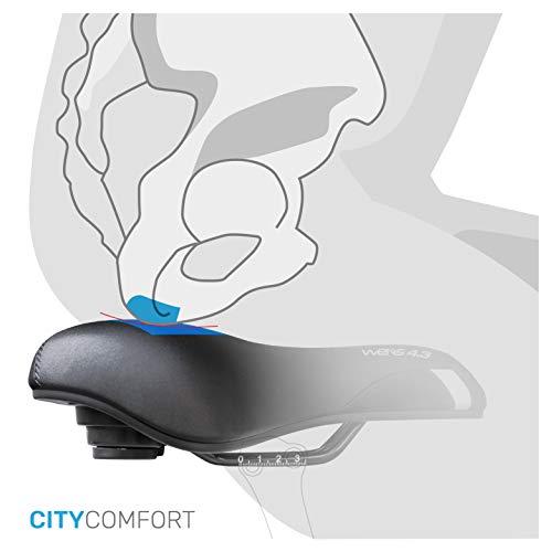Fahrradsattel [Trekking und City Bike] - GEL - bequemer Sattel Unisex - fahrradsattel mit ergonomischem Design - MORPHOS Gel