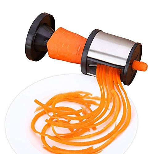 Edelstahl, Gemüse, Obst Twister Peeler, Zucchini-Spaghetti-Maschine, Hobel Cutter, Küchenwerkzeuge, Handgemüsehobel, Veggie-Spirale Karotte Gurke