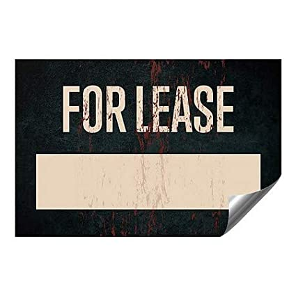 CGSignLab Ghost Aged Rust Heavy-Duty Industrial Self-Adhesive Aluminum Wall Decal for Lease 36x24