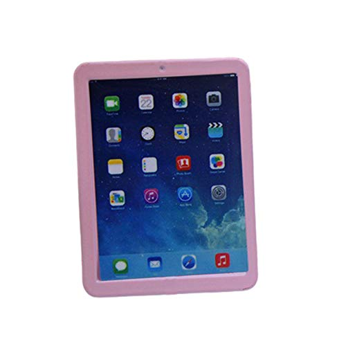 Blackzone Simulation Tablet Model Toy 1/12 Mini Dollhouse Accessories DIY Crafts Props Gift Pink
