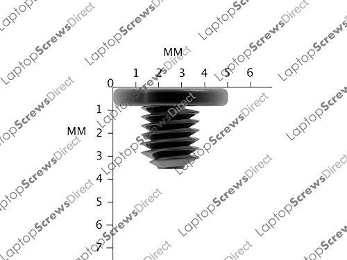 Dell Inspiron 1501Brand Neu Black Zinc Laptop Festplatte Schrauben, 10x M3x 3mm m3x 3L PM3x 3.0Schraube von rapidsparesltd