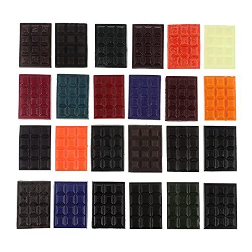 Artibetter Kit de Tinte de Cera de Vela Kit de Tinte de Color Bloque de Tinte de Color de Vela 24 Colores Tinte de Vela de Soya Kit de Suministros para Hacer Velas