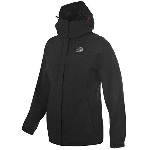 Karrimor - Chaqueta 3 en 1 para mujer con capucha, forro polar de malla, doble chaqueta negra 18 (XXL)
