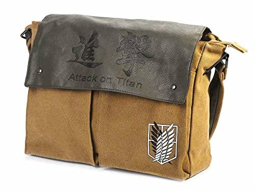 Attack on Titan Leinentasche mit Logo des Aufklärungstrupp | Variante: 36x27x10cm, Hellbraun
