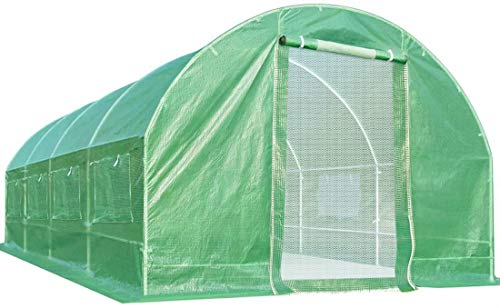 Quictent Upgrade 20 x10 x7 feet 2 Zipper Mesh Doors Portable Greenhouse Large Heavy Duty Walk-in Green Garden Hot House 10 Vents