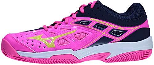Mizuno Femmes Break Shot Ex CC Chaussures De Tennis Chaussure Terre Battue Pink - Bleu Foncé 42
