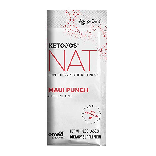 Pruvit Keto//OS NAT, Maui Punch, Caffeine Free, BHB Salts Ketogenic Supplement Ketones for Fat Loss, Provides Sharp Energy Boost (Keto OS NAT Maui Punch, 20 Sachets) 1
