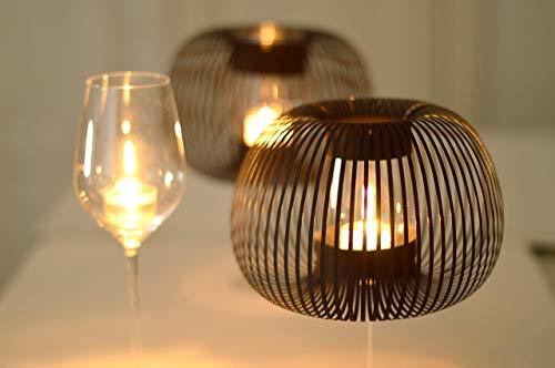 Lampenschirme für Weingläser, Tischleuchte mit Teelicht, elegante Tischdekoration, 2er Set Schwarz, MADAME O