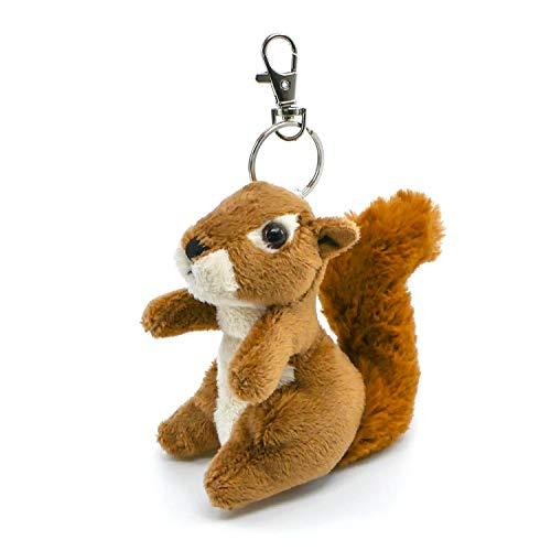 TopSpirit® Eichhörnchen Plüsch Schlüsselanhänger Plüschtier Stofftier Kuscheltier 10 cm