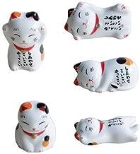 Amyove Nette Karikatur-Katzen-Form-keramische Essst/äbchen-Rest-Art gelegentlich