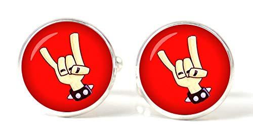 Gemelolandia   Gemelos Magglass Heavy Metal Gemelos Originales Para Camisas   Para Hombres y Niños   Regalos Para Bodas, Comuniones, Bautizos y Otros Eventos