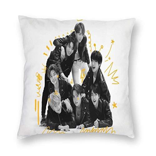N\A K-Pop Throw Pillow Case, BTS Life Photo Fundas de Almohada amigables con la Piel...