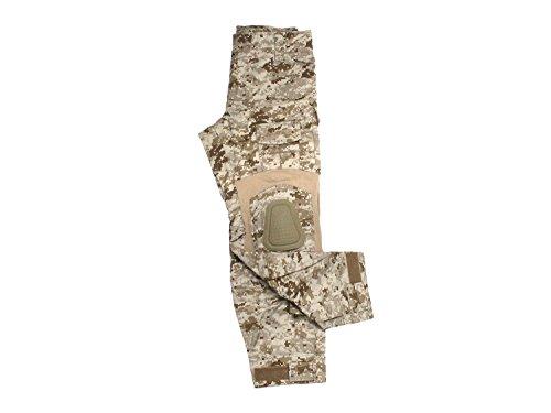 Invader Gear Predator Combat Hose, mit 10 Taschen & Knieschonern - digital Desert XL