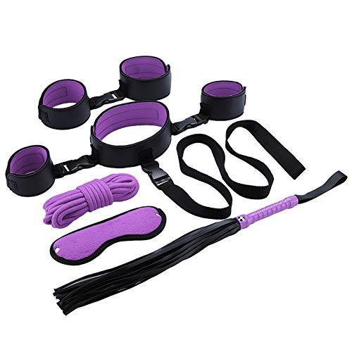 KUMEIER Kit de Ejercicios de combinación de Yoga de Cuero (Violeta)