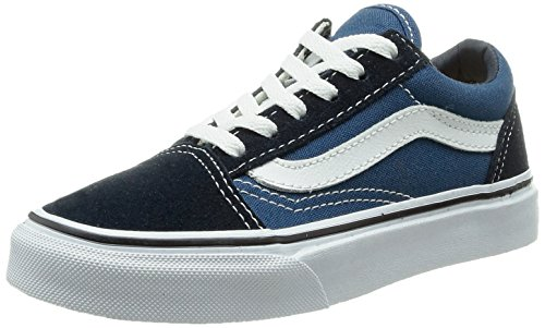 Vans Unisex-Kinder Old Skool Turnschuh, Blau (Navy/True White NWD), 33 EU