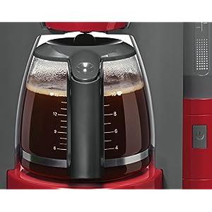 Bosch TKA6A044 ComfortLine Filterkaffeemaschine, Aroma+, Aromaschutz-Glaskanne, Auto-Off wählbar, abnehmbarer Wassertank, 1200 W, rot