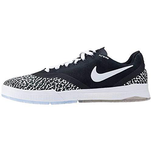 Nike Skateboarding Paul Rodriguez 9 Elite T, Herren Durchgängies Plateau Sandalen mit Keilabsatz, schwarz - schwarz/weiß - Größe: 41.5
