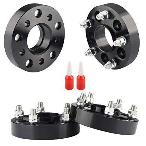 Rying 5x4.5 to 5x5 Wheel adapters for JK Wheels on TJ YJ KK SJ XJ MJ, 1.25 inch 5x114.3 to 5x127 Hubcentric Wheel adapters 71.5mm Cent bore 1/2 Thread Pitch. Thread-Locking Adhesives