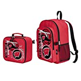Officially Licensed NCAA Wisconsin Badgers 'Accelerator' Backpack & Lunch Kit Set, Red, 16' x 9.5' x 12'