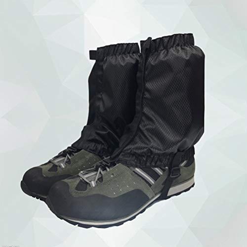 VORCOOL 1 Paar Schnee Gamaschen Leichte Wasserdichte Knöchel Gamaschen für Outdoor Wandern Klettern (Schwarz) - 5