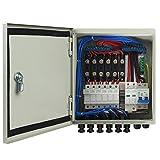 ECO-WORTHY 6 String PV Combiner Box & 63A interruttori per pannello solare Grid Connect e ...