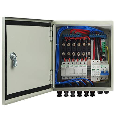 ECO-WORTHY 6-saitige PV-Kombinationsbox & 63 A Leitungsschutzschalter für Solarpanel-Gitter und netzunabhängiges Solarstromsystem.