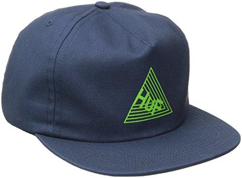 HUF Dimensions Snapback Cap Flat Brim Flatbrim Basecap Baseballcap Kappe (One Size - dunkelblau)