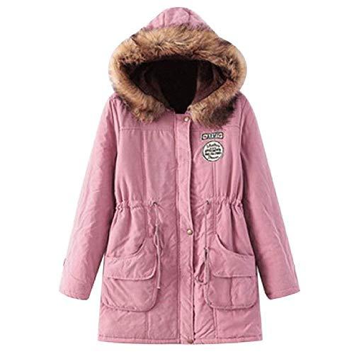 LILIZHAN Winter Jacket Vrouwen Parkas Bont Jas Warm Collar Slim Rits Bovenkleding Vrouwelijke Jas Plus Size