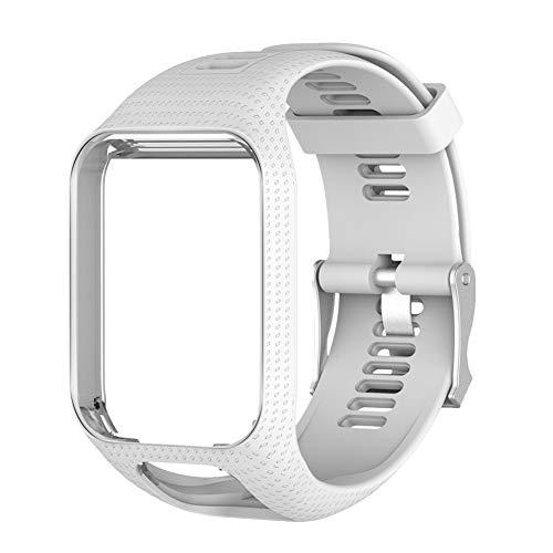 Tihebeyan vervangende horlogebandjes van silicone met snelsluiting van zacht rubber voor dames en heren, horloges en smartwatch, Wit.