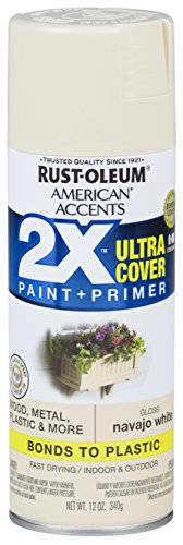 Rust-Oleum 327882 American Accents Spray Paint, 12 oz, Gloss Navajo White