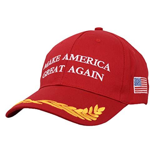 Make America Great Again Baseball Cap, Donald Trump Sun Visor Hats, Baseballkappe mit USA Flagge, Einstellbar Baseballmütze für Männer und Frauen