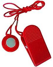 Interruptor Cinta de Correr Llave de Seguridad Universal Tapiz rodante de Bloqueo de Seguridad de Bloqueo Redonda roja de la Aptitud Aptitud Kit de sustitución de Nueva útil