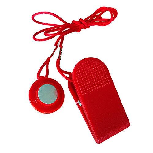 LQKYWNA Laufband Sicherheitsschlüssel Universal-Laufband Sicherheitsschloss Runde Schalter Sperr Fitness Red Fitness Replacement Kit Nützliche Neue