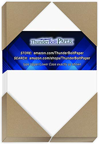 "150 Bright White Smooth 80# Card Paper Sheets - 80 lb/Pound Cover Weight - 3.5"" X 5.5"" (3.5X5.5 Inches) USPS Standard Postcard Card Size - Quality Paper - Consistency in Print - Smooth Finish"