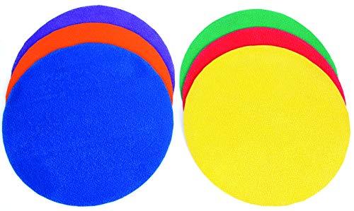 Sure Shot Kids 'Gooi Down Spots (6 stuks), blauw/groen/geel/blauw/paars/rood, 25 cm