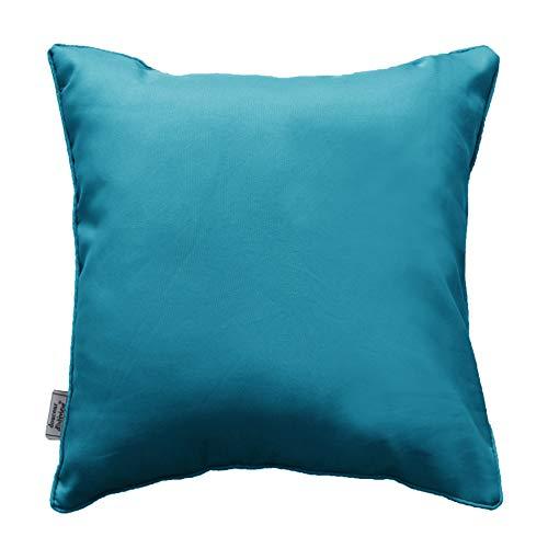 douceur d'intérieur 1604838 Coussin Polyester/Fibres Divers Bleu 40 x 40 cm