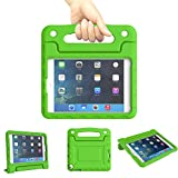 Kids Case for iPad Mini 1 2 3 4 5 Generation - Lightweight Shockproof Convertible Protection Cover with Built-in Handle Stand Children Tablet and 2019 - Retina Display (Green)