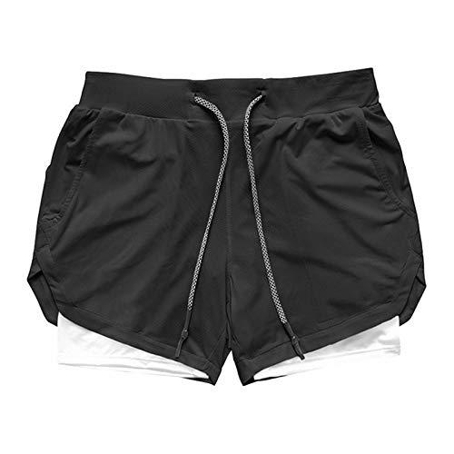 Jubaton Pantalones Cortos para Correr de Secado rápido para Hombre, Capas Base para Hombres, para Entrenamiento, Baloncesto, Gimnasio, Pantalones para Correr Europeos y Americanos M