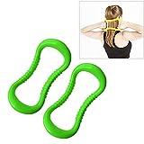 Tangminyidi 2 PCS PP Doble Masaje Punto de Yoga Círculo Fascia Estiramiento Anillo Resistencia Pilates, Fitness Equipment Set (Color : Grass Green)