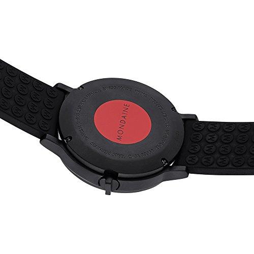 Mondaine Herren-Armbanduhr XL Stop2Go Analog Quarz Kautschuk A512.30358.64SPB