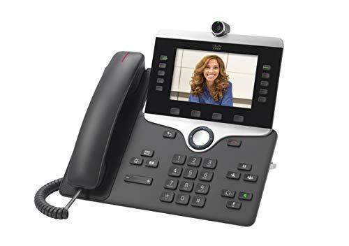Cisco IP Phone 8865 - Teléfono IP (Carbón vegetal, Terminal con conexión por cable, Digital, Escritorio/pared, ABS, 800 x 480 Pixeles)