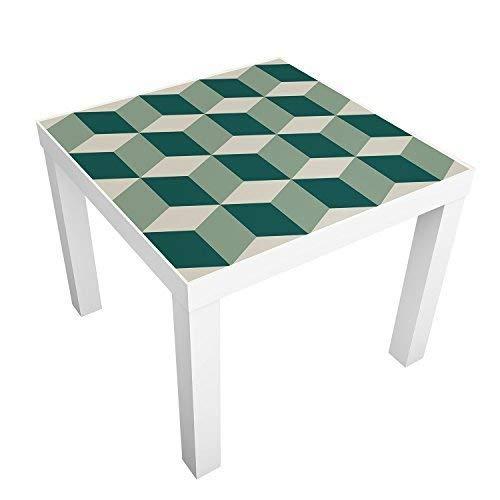 WALPLUS WM5115 groene 3D-blokjes tegels, Vinyl meerkleurig, 7,6 x 63,5 x 2 cm