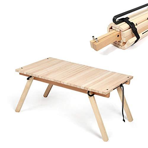 Klapptisch Aus Holz, Garten Outdoor Camping Tisch, Multifunktionaler Picknickklapptisch Kleine Wohnung Langer Niedriger Buchentisch, Für Outdoor Indoor