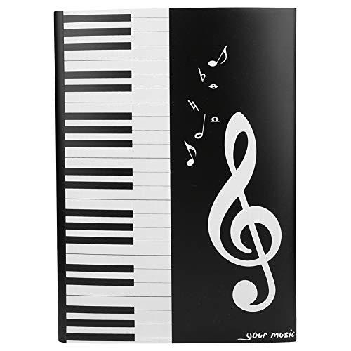 Bnineteenteam A4 Größe Musik Ordner,Musiknotenordner Musikordner Papierdokumente Klavierordner für Verschiedene Instrumentenspieler Musiker