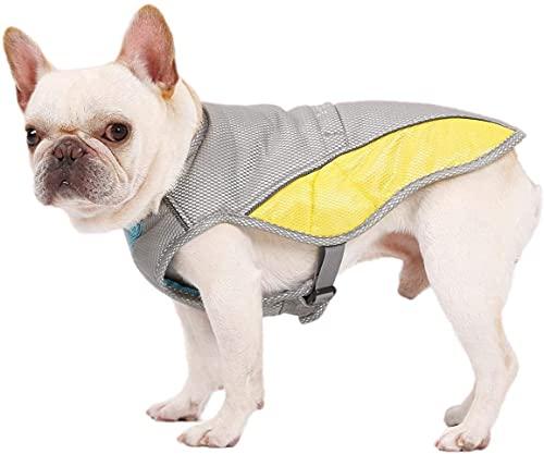 BePetMia Kühlgeschirr Weste für Hunde, Kühlweste Outdoor Hundejacke, Atmungsaktive Weste Kühljacke Sonnenschutz Haustier Mantel, 7 Größen für Hunde Aller Größen erhältlich (S)
