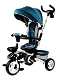 Triciclo plegable azul